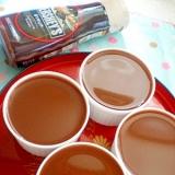 ハーシーチョコレートシロップでお手軽チョコプリン♪