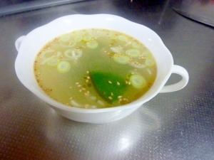 簡単めかぶの中華スープ