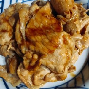 麺つゆで簡単豚の生姜焼き