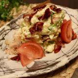 和風ポテトサラダとチョリソ(サラミ)