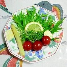 ホワイトアスパラのサラダ