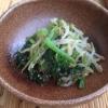 小松菜ともやしのごま和え