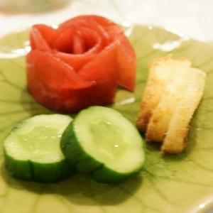 ♪大根の甘酢漬、千枚漬風 ~赤い薔薇でおもてなし♪
