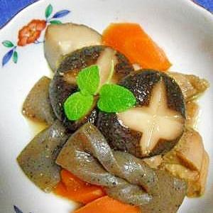 手綱コンニャクと野菜の炒り煮