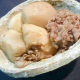 電気圧力鍋で『里芋と牛肉のバター醤油炒め』