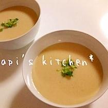豆乳でヘルシー❤葱×葱の和風ポタージュ