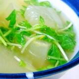 簡単 豆苗と冬瓜のスープ