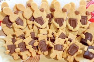 抱っこくま&うさぎの焼きチョコクッキー