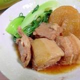 簡単、あめ色大根と豚の角煮