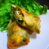 あさりと小松菜の豆腐春巻き
