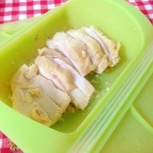 レンジで簡単!塩麹で蒸し鶏♡