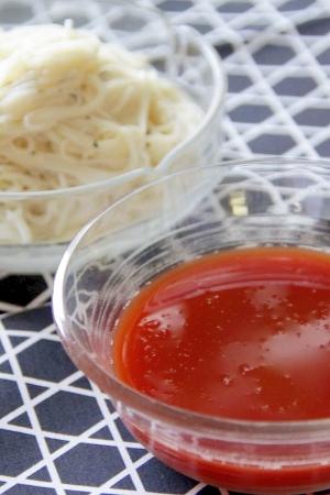 和風?イタリアン?『トマト素麺』
