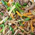 大根と牛肉のオイスターソース炒め