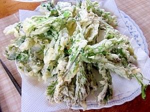 グリーン一色の山菜天ぷら