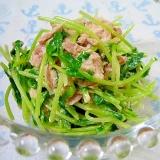 豆苗とツナのマヨネーズサラダ☆
