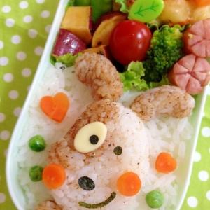 簡単キャラ弁☆わんちゃんのお弁当♪