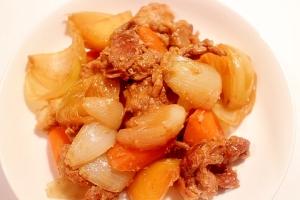 超簡単♪冷凍肉でも可!野菜たっぷり豚肉の肉じゃが