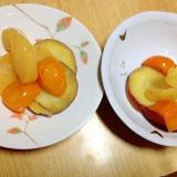 作ってみてびっくり甘いりんごキンカンさつまいも煮