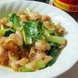焼肉のたれとキムチの素の小松菜と豚肉炒め