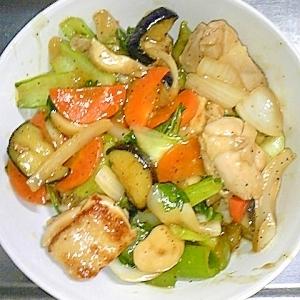 チンゲン菜と鶏肉の中華丼
