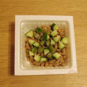 夏野菜♪いんげんと胡瓜の納豆