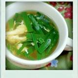 中華味のニラ玉スープ