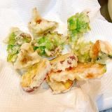 サクッと揚げます☆ふきのとうと根菜と舞茸の天ぷら