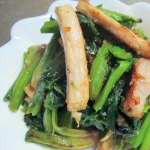 ほうれん草と塩麹豚肉の炒め物
