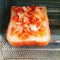 コロコロ野菜のトマトチーズトースト