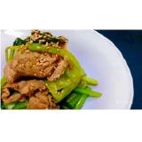 牡蠣しょうゆ♪小松菜豚肉炒め