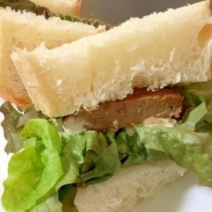 フランスパンでハンバーガー