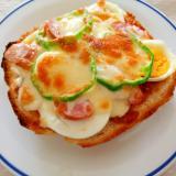 ウインナーと茹で卵の☆ピザトースト