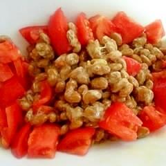 簡単小鉢に♪トマト納豆