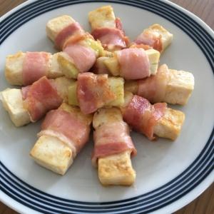 ナスと豆腐のベーコン巻き