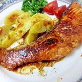 塩麹のチカラ☆ 「鮭のバター醤油ソテー」