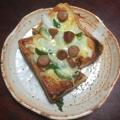新玉ねぎとピーマンのピザトースト