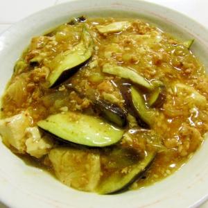鶏挽肉と新玉葱のそぼろを和風麻婆豆腐にremake