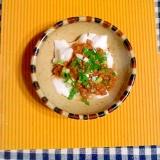 ピーナツ豆腐の納豆味噌♪
