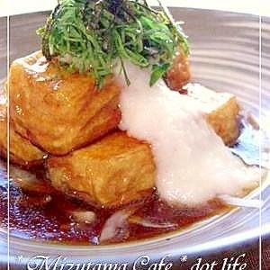 ●豆腐ステーキとろと掛け●オニスラにのせて旨み倍増