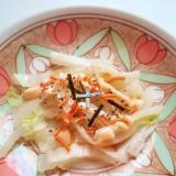 レンジ蒸し白菜とベビースターラーメンのマヨサラダ