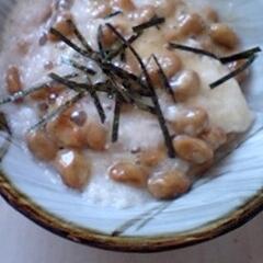 とろろ納豆