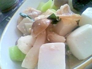 シメジと豆腐の塩麹炒め