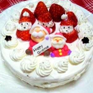 サンタさんも一緒にクリスマスケーキ♪