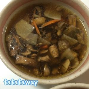 お酢入り☆マッシュルームのさっぱりスープ