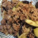 茄子と牛肉の塩麹炒め