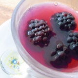 紫蘇ジュースを使って☆簡単!桑の実寒天ゼリー