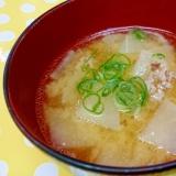 豚ひき肉&大根の味噌汁
