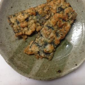 パセリ&アミエビで彩り(*^^*)味付け海苔天ぷら