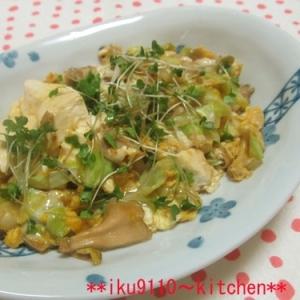 キャベツ・くずし豆腐の卵とじ