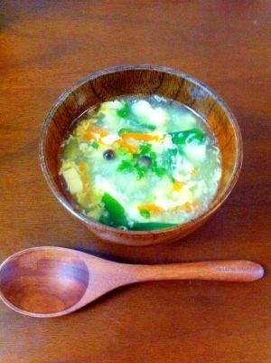 簡単☆たまご豆腐の本格中華スープ